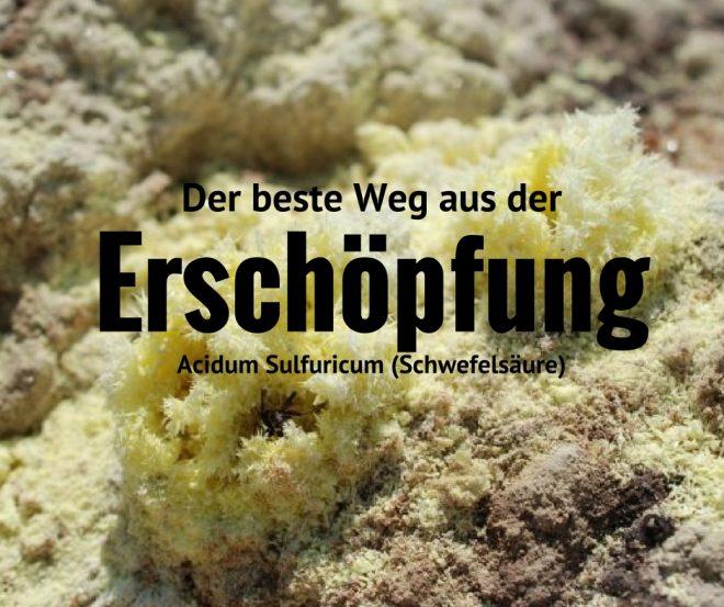 Die Leitsymptome von Acidum sulfuricum sind Hitzewallungen mit Erschöpfung.
