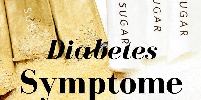 Mögliche Diabetes Symptome sind übermäßiger Durst,